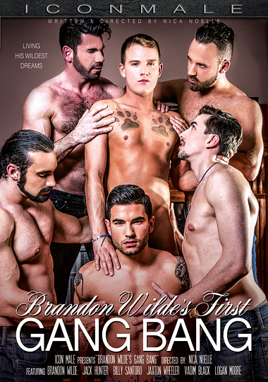 brandon wilde's first gangbang, gangbang, orgy, brandon wilde, gay, porn, icon male, jaxton wheeler, billy santoro, vadim black, logan moore, jack thermann