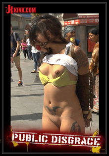 Public Disgrace: Beautiful Spanish Slut Paraded Around Town cover