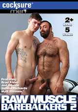 raw muscle barebackers 2, bareback, cocksure, gay, porn, brad kalvo, jed athens