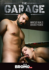 the garage, bromo, marcus ruhl, bareback, roman todd, kaden alexander, lucas knight, logan cruise, gay, porn, interracial, raw, breeding