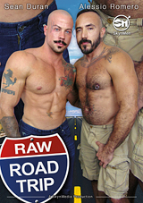 raw road trip, porn, skyn men, gay, bareback, aarin asker, saxon west, nick cross