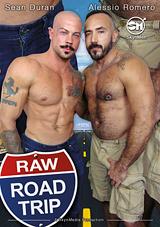 raw road trip, porn, skyn men, gay, bareback, aarin asker, saxon west, nick cross