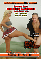 Blonde Teen Schoolgirl Ballbusting And Fucking With Layla Price And The Flasher