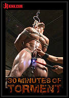 30 Minutes Of Torment: Muscled Stud Brock Avery Pushes His Limits To The Max Before Receiving A Vicious Fuck And A Face Full Of Cum