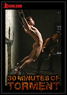 30 Minutes Of Torment: Screaming At The Top Of His Lungs, Leon Fox Pushes Through Three Grueling Challenges Before Blowing His Load Everywhere