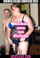 Rose Blume Strapon Fucks Nick Coleman