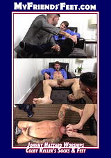 Johnny Hazzard Worships Colby Keller's Socks And Feet