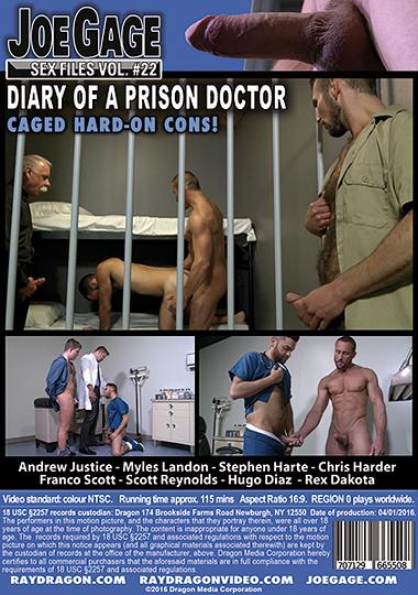 Joe Gage Sex Files 22 Diary of a Prison Doctor Cover Back