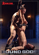 Tormented In Tight Metal Bondage, Connor Patricks Suffers Cane And Cock Before Receiving A Mouthful Of Cum