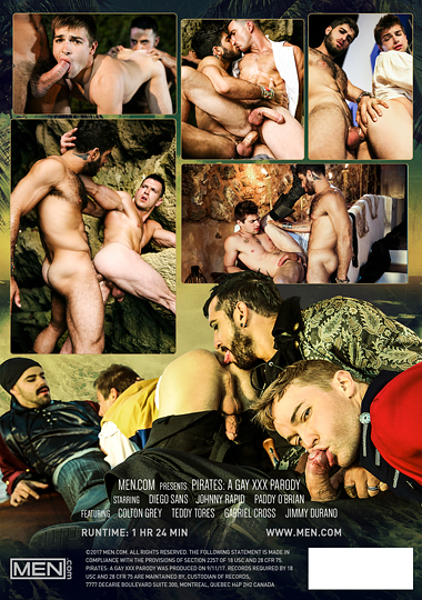 Pirates A Gay XXX Parody Cover Back