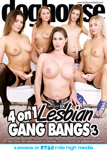 4 On 1 Lesbian Gang Bangs 3 cover