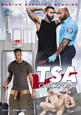 buck richards, trent king, raging stallion, gay, porn, tsa checkpoint, barista, passenger, flip fuck
