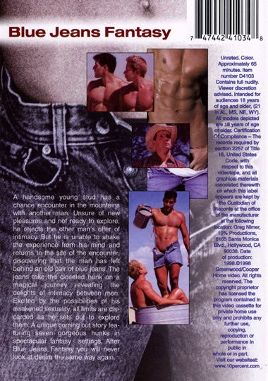 Blue Jeans Fantasy Cover Back
