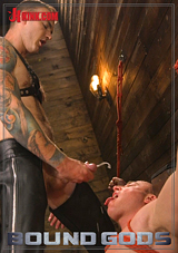 Leather Slave Serves His Master