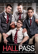 hall pass, iconmale, schoolboy, gay, porn, michael delray, del ray, kory houston, blaze austin