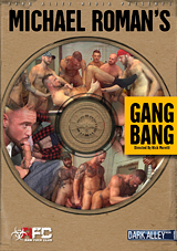 michael roman's gang bang, dark alley, raw fuck club, gay, porn, bareback
