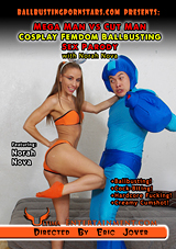 Mega Man VS Cut Man Cosplay Femdom Ballbusting Sex Parody With Nobusting Sex Parody