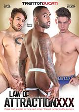 law of attraction xxx, trenton ducati, aebn, exclusive, dante colle, michael del ray, remy cruze, threeway, threesome, bareback, muscles