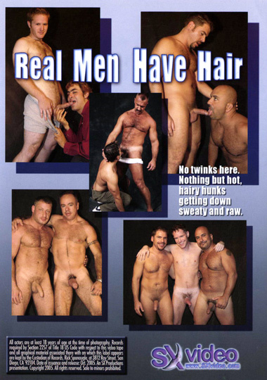 Real Men Have Hair Cover Back