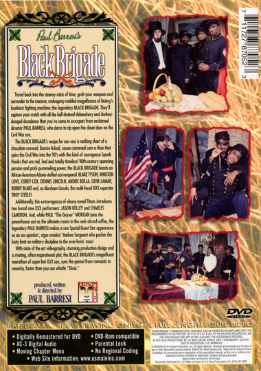 Paul Barresis Black Brigade Back Cover