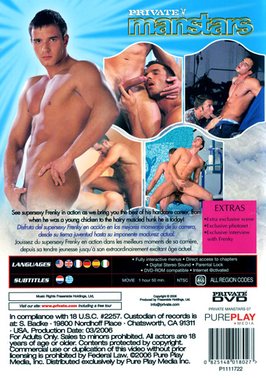 Private Manstars 7 Frenkys Cumming to Get You Cover Back