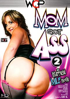 "Adult entertainment movie ""Mom Got Ass 2"" starring Sadie Johansen, Kitty Caulfield & Kendra Secrets. Produced by West Coast Productions."