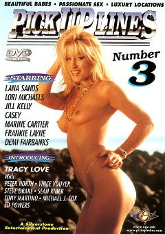 "Adult entertainment movie ""Pick Up Lines 3"" starring Tracy Love, Casey & Lori Michaels. Produced by Silverstone."