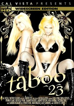 "Adult entertainment movie ""Taboo 23"" starring Shyla Stylez, Gina Lynn & Audrey Bitoni. Produced by Cal Vista Pictures."