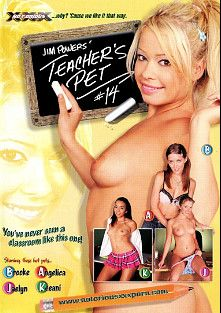 Jim Powers' Teacher's Pet 14, starring Jaelyn Fox, Angelica Lane, Brooke Scott, Keeani Lei, Eric Swiss, Jay Crew, Johnny Thrust and Rick Masters, produced by Notorious Productions.