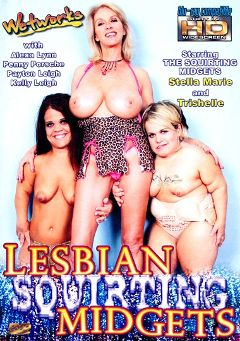 "Adult entertainment movie ""Lesbian Squirting Midgets"" starring Trishelle, Stella Marie & Penny Porsche. Produced by Filmco."