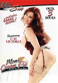 "Adult entertainment movie ""Mom's Cream Pie"" starring Mae Victoria, Haiko Titan & Honey White. Produced by Digital Sin."