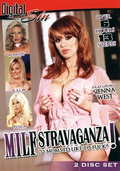 "Adult entertainment movie ""Milf Stravaganza Part 2"" starring Sienna West, Isabella Manelli & Jazzmine. Produced by Digital Sin."