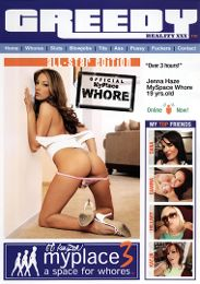 "Featured Star - Jenna Haze presents the adult entertainment movie ""Myplace 3: A Space For Whores""."
