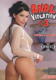 "Featured Star - Rebeca Linares presents the adult entertainment movie ""Anal Violation 3""."