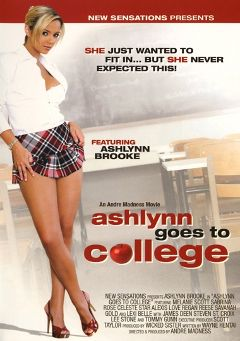"Adult entertainment movie ""Ashlynn Goes To College"" starring Ashlynn Brooke, Regan Reese & Alexis Love. Produced by New Sensations."