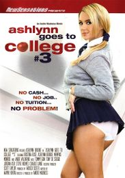 "Featured Star - Ashlynn Brooke presents the adult entertainment movie ""Ashlynn Goes To College 3""."