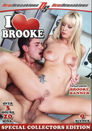 I Love Brooke, starring Brooke Banner, Audrey Bitoni, Jack Venice, Shane Diesel, Dwayne Cummings, Michael Stefano, Lee Stone, Mr. Marcus and Justin Long, produced by New Sensations.