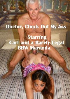 "Adult entertainment movie ""Doctor, Check Out My Ass"" starring Maranda Green & Carl Hubay. Produced by Hot Clits Video."