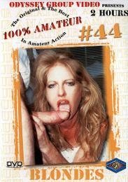 "Just Added presents the adult entertainment movie ""100 Percent Amateur 44: Blondes""."
