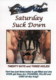 "Adult entertainment movie ""Saturday Suck Down"" starring Terri Wylder. Produced by Trix Productions."