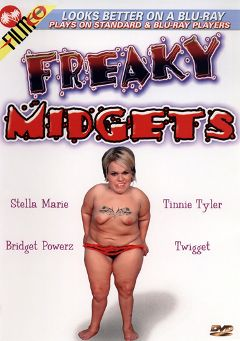 "Adult entertainment movie ""Freaky Midgets"" starring Stella Marie, Jenner & Tinnie Tyler. Produced by Filmco."