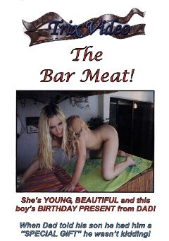 "Adult entertainment movie ""The Bar Meat"" starring Julie J. Produced by Trix Productions."