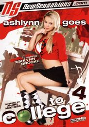 "Featured Star - Ashlynn Brooke presents the adult entertainment movie ""Ashlynn Goes To College 4""."