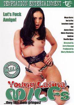 "Adult entertainment movie ""Young Latina MILFS"" starring Ice La Fox, Vanilla Nyce & Maya Gates. Produced by Temptation Entertainment."