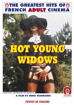 "Adult entertainment movie ""Hot Young Widows"" starring Jenny Feeling, Charlie Schreiner & Marion Shultz. Produced by ALPHA-FRANCE."