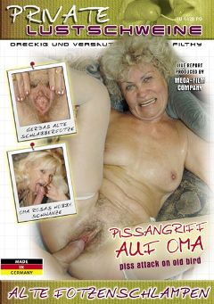 "Adult entertainment movie ""Alte Fotzenschlampen"" starring Francsina, Sziszi & Fuzi. Produced by MEGA-FILM."