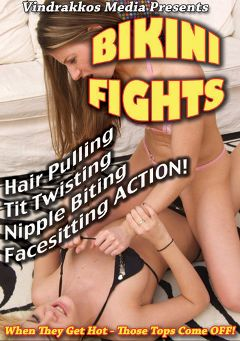 "Adult entertainment movie ""Bikini Fights"" starring Madison Parker, Baby Silver & Candy Cat. Produced by Vindrakkos Media."