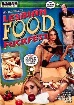 "Adult entertainment movie ""Lesbian Food Fuckfest"" starring Nikki Nievez, Kelly Wells & Skeeter Kerkove. Produced by Robert Hill Releasing Co.."