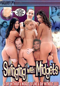 "Adult entertainment movie ""Swinging With Midgets"" starring Mili Moreira, Melissa Karen & Carol Sampaio. Produced by Robert Hill Releasing Co.."