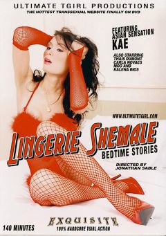 "Adult entertainment movie ""Lingerie Shemale"" starring Kae, Moo (o) & Thays Dumont. Produced by Ultimate T-Girl Productions."